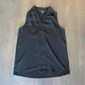 Sleeveless black blouse